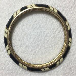 J.Crew black and white enamel Bracelet